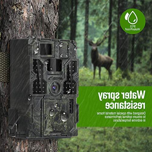 "14MP Scouting Wildlife 130° Detection Trigger 2.4"" LCD IR IP55 Waterproof Design Hunting, Home"