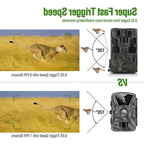 "Clobo Game 14MP Waterproof Scouting Cam Wildlife 130° Trigger 2.4"" LCD IR Design for Wildlife Home"