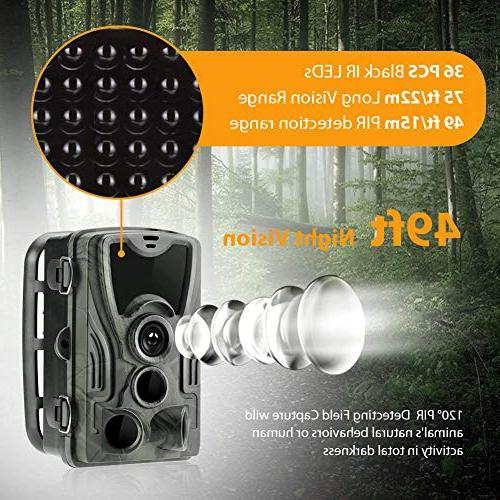Trail Game Camera 1080P Cam with Motion Activated Night LCD IR LEDs
