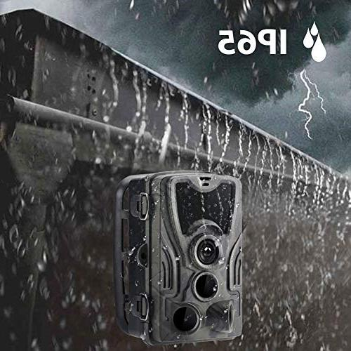 Trail Game 1080P Waterproof Cam for Monitoring with 120°Detecting Activated LCD LEDs