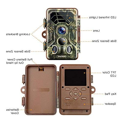 Campark Game HD Waterproof Wildlife Deer Hunting 120° Range Motion Activated Night Vision for Field Nature Wild Home
