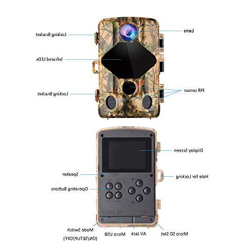 Wansview Trail Hunting Camera with 0.2S Speed and 120° Angle, Night IP56 Waterproof for Home Security
