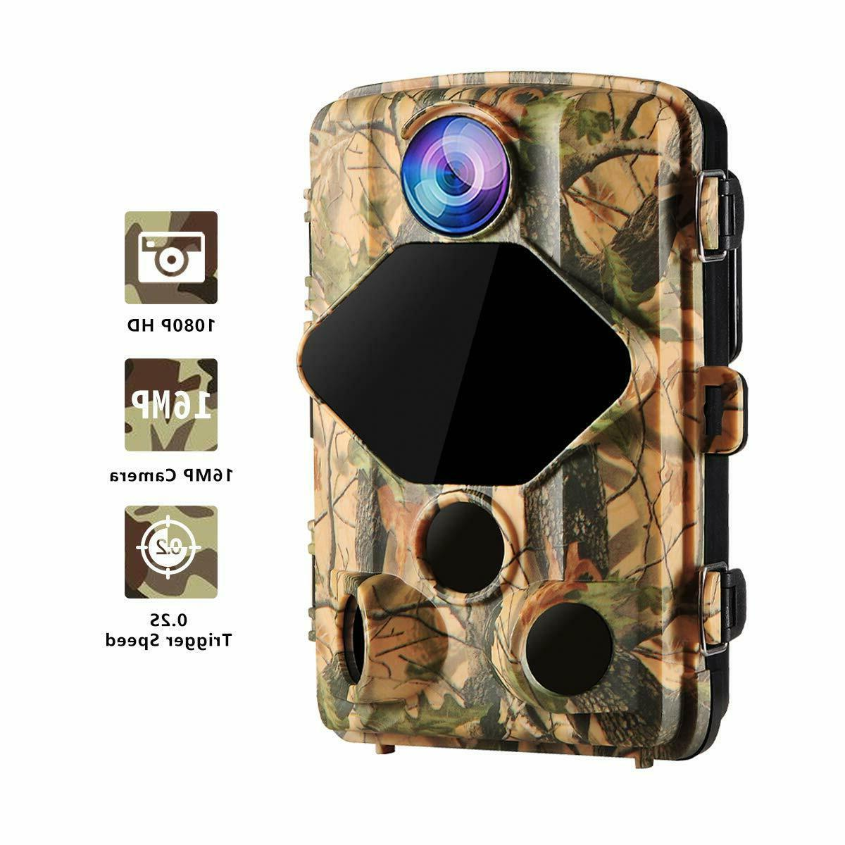 Wansview Hunting Camera 16MP 1080P with 0.2S Trigger and Wide Viewing Angle, 70ft Night Waterproof Wildlife and Home Security