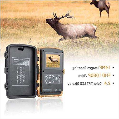 Campark Trail Camera 1080P Hunting Color Wildlife Scouting Digital Cameras with Vision IP56 Waterproof