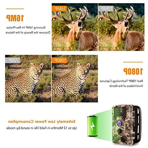 "AIMTOM Trail 16MP 46Pcs 0.2S Night Vision Angle 2.4"" Scouting Ghost Wildlife Trap"