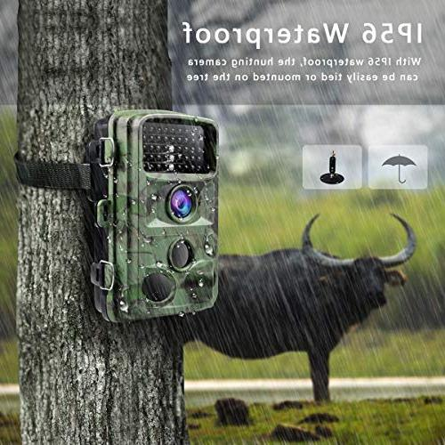 1080P Game Cameras with Night Vision Waterproof Wildlife Trigger Speed IR LEDs