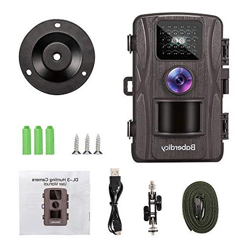 Baberdicy 12MP Wildlife Camera Motion Activated Game Angle, 0.2s 65ft Range