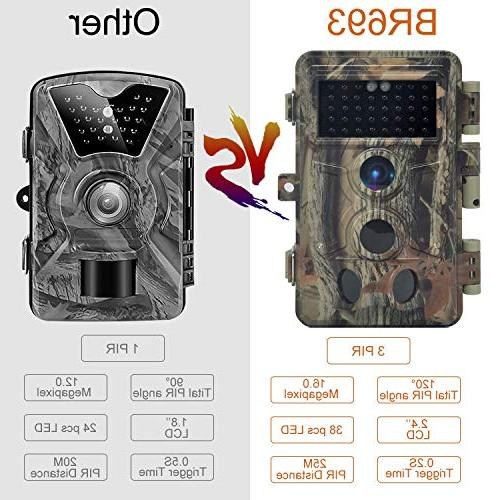DIGITNOW Trail 1080P HD Hunting Camera with 40Pcs IR Infrared Night Vision Up to 65FT /20M, Camera 120° Detection