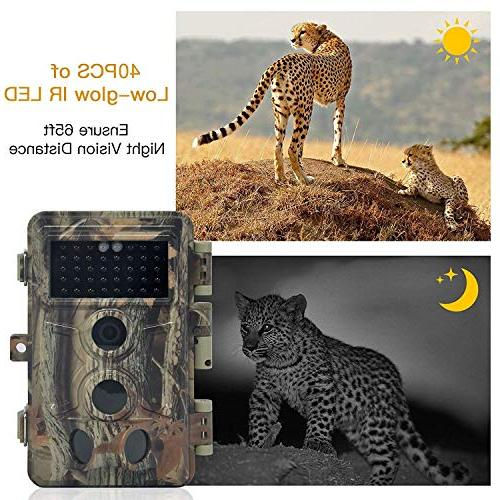 DIGITNOW Trail 1080P HD Hunting Scouting Game with Infrared to 65FT Camera 130° Wide Angle 120° Detection