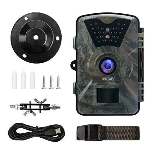 Victure 1080P Camera Motion Vision 20m LCD Display IP66 for Wildlife and Home Security