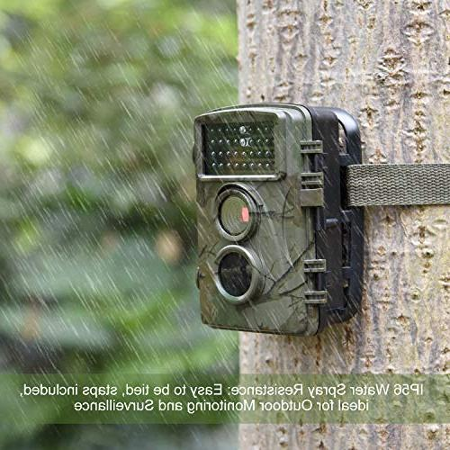"""AlfaView 1080P Scouting Hunting Camera Activated Night Vision Cam 2.4"""" LCD Display IP56 Waterproof Design Wildlife Hunting"""