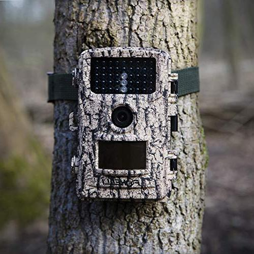 "Foxelli Trail Camera 14MP 1080P Wildlife Scouting with Motion Vision, 120° Lens, and 2.4"" IP66"