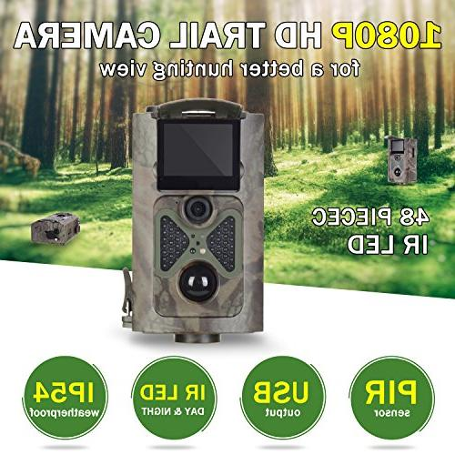 ANNKE Trail 1080P HD 48pcs LEDs Infrared PIR Night Vision IP54 Scouting Security
