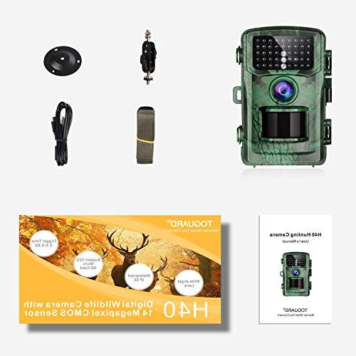 """TOGUARD Trail 1080P Hunting with 2.4"""" LCD IR Night Deer Cam Design for"""