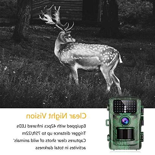 """TOGUARD 1080P Game with Waterproof 2.4"""" Night Design and Home"""