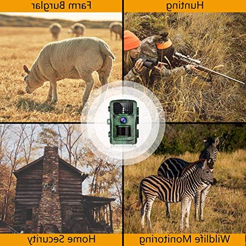"""TOGUARD Trail 14MP 1080P Hunting with Night 2.4"""" Night Cam Design for and"""