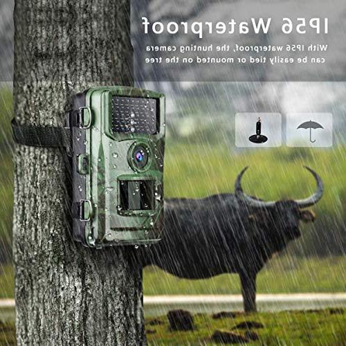"""TOGUARD Camera 1080P Game Cameras with Night Waterproof 2.4"""" Night Vision Deer Cam Design Wildlife and"""