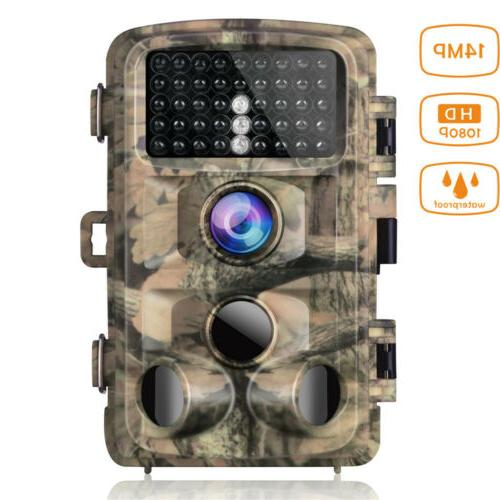 wildlife trail camera 14mp 1080p waterproof hunting