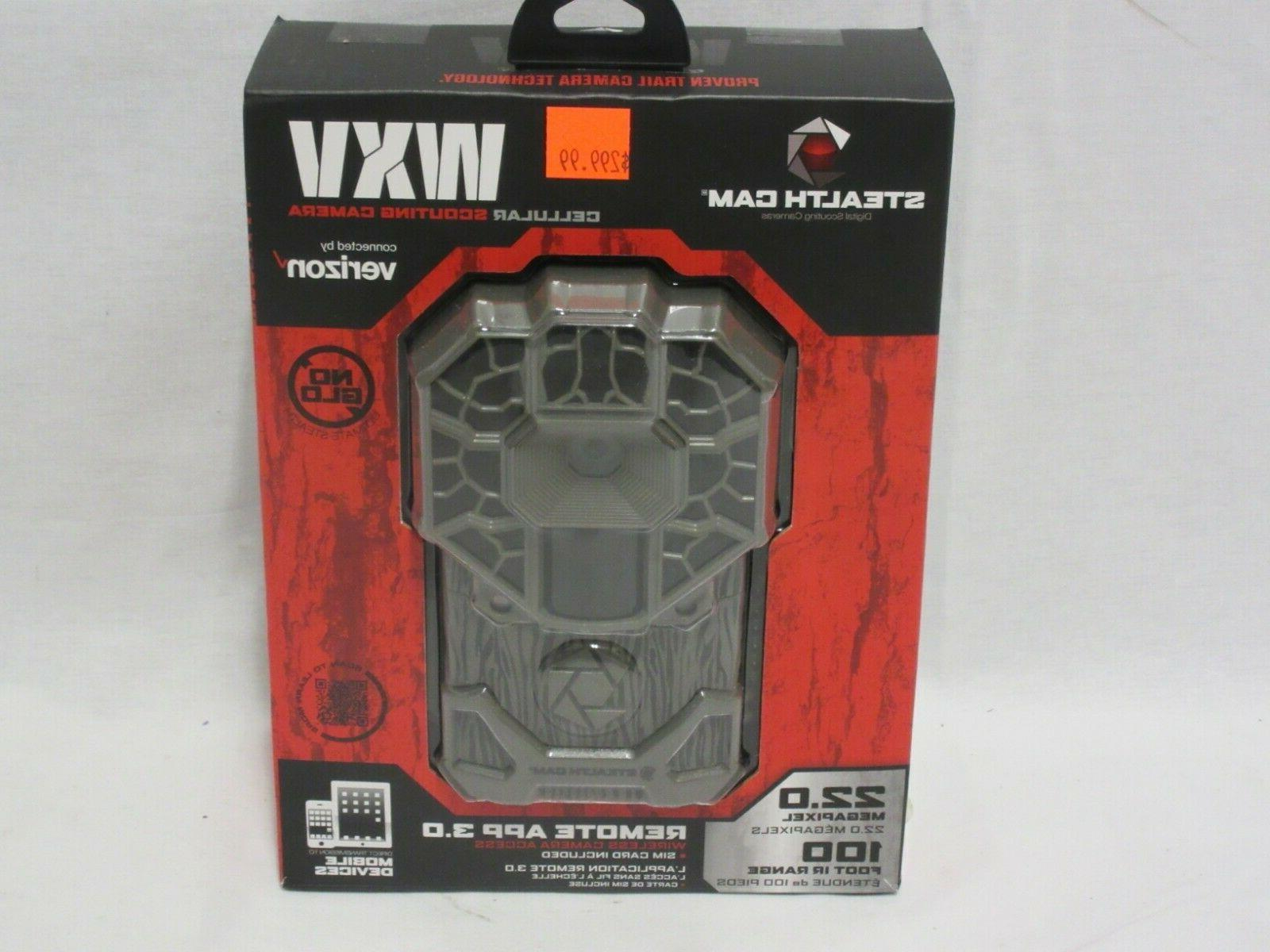 Stealth Cam GX Cellular Series 22MP 100FT Infrared Rang Remo