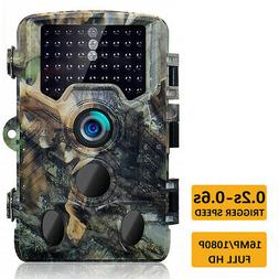 LCD Trail Camera Waterproof 16MP 1080P Cameras for Outdoor.H