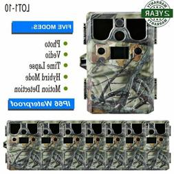 LOT1-10  8-in-1 Multifunction Trail Hunting Camera Game Cam