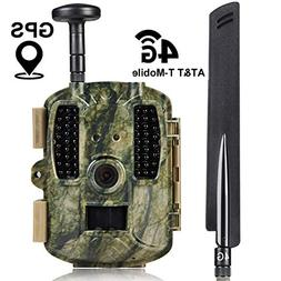 Kuool 4G LTE Cellular & GPS Trail Hunting Camera Trail cam,D