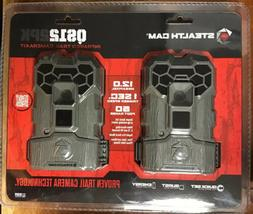 NEW Stealth Cam QS12 2PK Infrared Trail Camera Kit 2 Pack 12