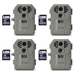 Stealth Cam P12 6MP Scouting Game Trail Camera, 4 Pack + 8GB