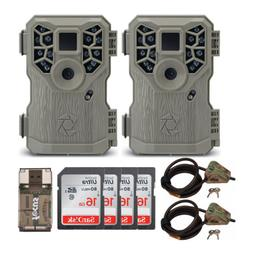Stealth Cam PX14X P Series 10MP Game/Trail Cameras  + Four 1