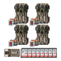 Stealth Cam PX18 14MP/Video Camo Trail Camera 4-Pack w/ Eigh