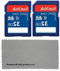 2 Pack SanDisk 32 GB Class 4 SDHC Flash Memory Card Retail w