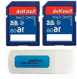 2 Pack SanDisk 16GB Class 4 SDHC Flash Memory Card Retail wo