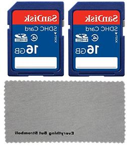 2 Pack SanDisk 16 GB Class 4 SDHC Flash Memory Card works wi