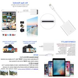 SD Card Camera Reader Adapter For Iphone Ipad Support Ios 9.