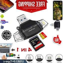 SD Card Reader Iphone iOS Lightning Adapter Trail Game Camer
