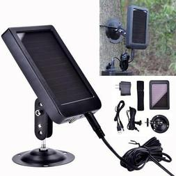 Solar Panel Charger Adapter For Hunting Trail Scouting Camer