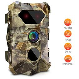 AIMTOM T903 Trail Game Cameras, 16MP 1080P Stealthy Hunting