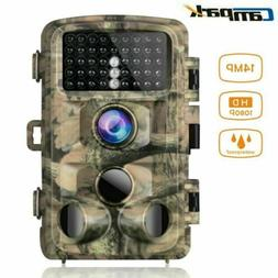 Campark 14MP Trail Game Camera 1080P Video Hunting Night Vis