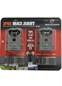 Stealth Cam Trail Cam 2-Pack XS16 Combo Kit w/ SD Card Reade