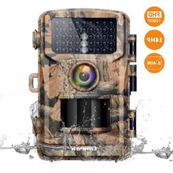 Campark Trail Camera 1080P Hunting Cam 14MP Wildlife Game Sc