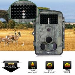 Trail Camera 12MP 1080P Game Camera Motion Activated Wildlif
