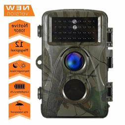 Trail Camera 12MP HD Game Camera Motion Activated Wildlife H