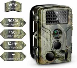 Trail Camera 16MP 1080P FHD Waterproof, Wildlife Hunting Sco