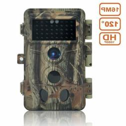 Trail Camera 16MP 1080P, Game Camera with No Glow LED Infrar
