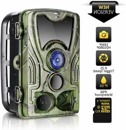 Trail Camera 16MP 1080P HD 2019 Upgraded IP66 Waterproof Gam