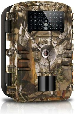 WOSPORTS Trail Camera Full HD 1080P Hunting Game Camera Wat