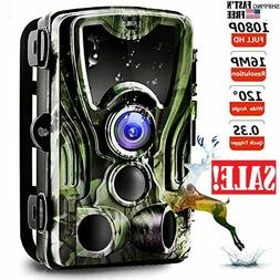 Trail Camera, Game Hunting Camera with Night Vision Motion A