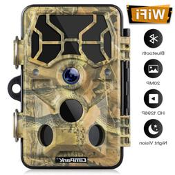 Campark Trail Camera WiFi 20MP 1296P Hunting Game Camera Nig