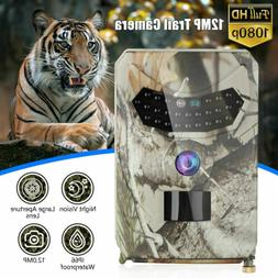 12MP HD 1080P Hunting Trail Camera Video Wildlife Scouting I