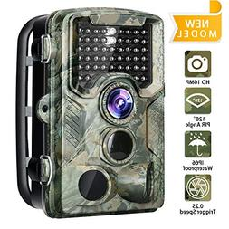 Trail Camera 16MP 1080P Game Camera with 2.4 inch LCD IP56 W